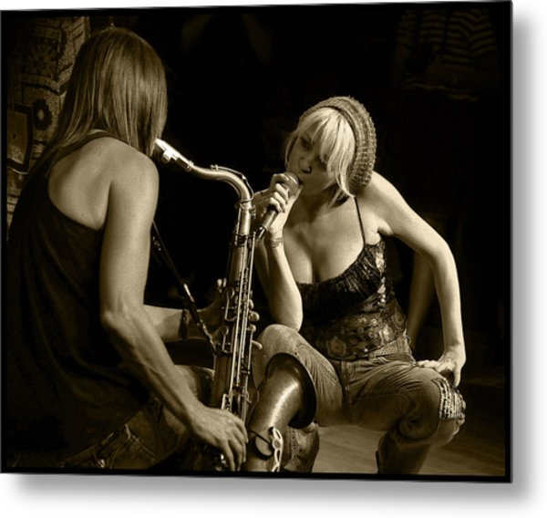 Bekka And Deanne Metal Print