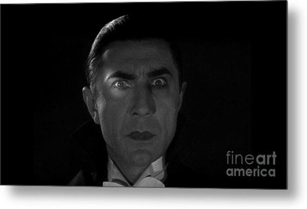 Bela Lugosi  Dracula 1931 And His Piercing Eyes Metal Print