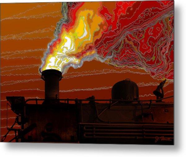 Belching Fire Metal Print by Joe Bonita