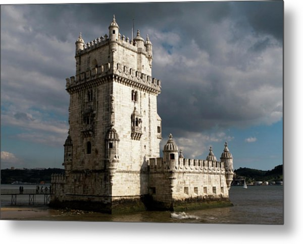 Metal Print featuring the photograph Belem Tower In Color by Lorraine Devon Wilke