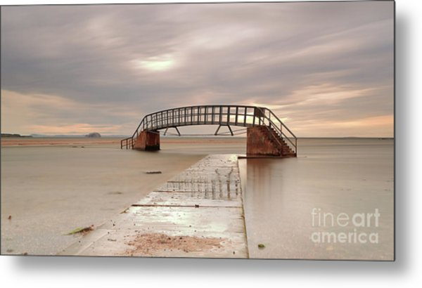 Belhaven Stairs And The Bass At Low Tide Metal Print