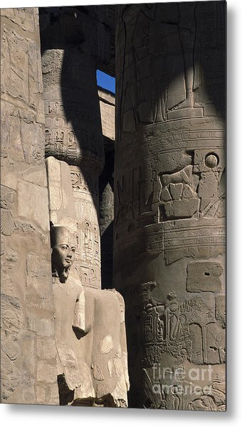 Belief In The Hereafter - Luxor Karnak Temple Metal Print