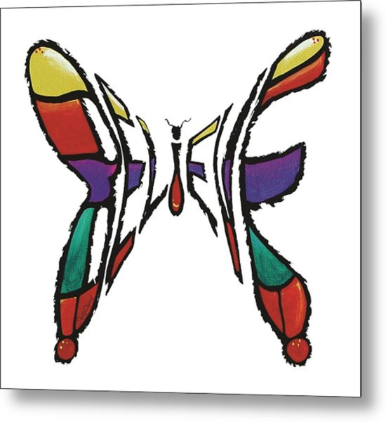 Believe-butterfly Metal Print