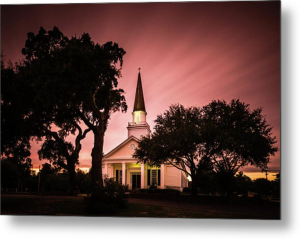 Belin Memorial Umc Sunset Metal Print