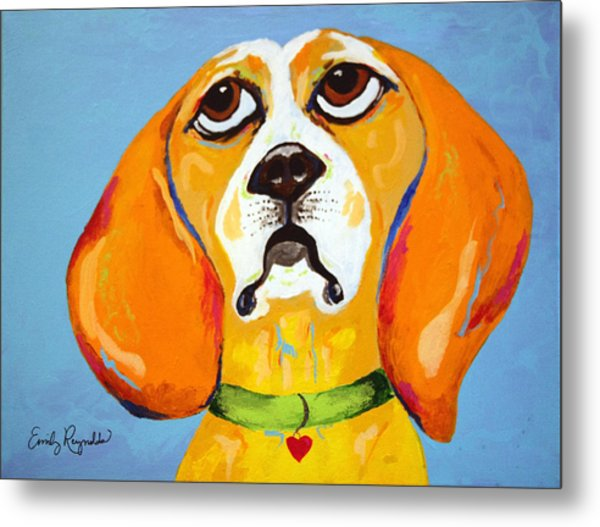 Belinda The Beagle Metal Print by Emily Reynolds Thompson