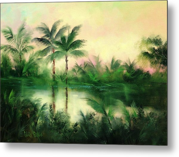 Belize River Metal Print by Sally Seago