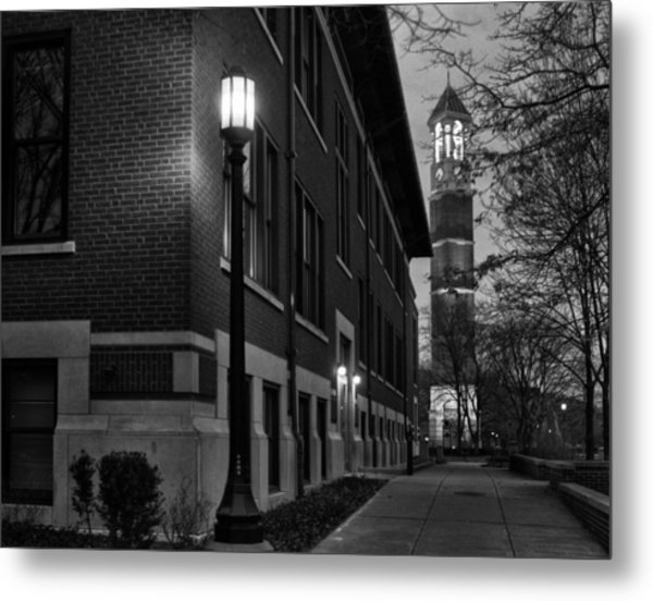Bell Tower At Night Metal Print
