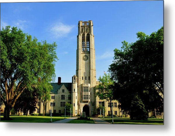 Bell Tower At The University Of Toledo Metal Print