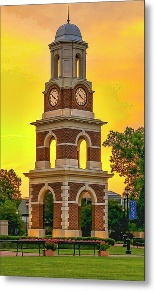 Bell Tower At Christopher Newport University C N U Metal Print