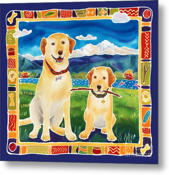 Bella And Bruno's Fine Day Metal Print by Harriet Peck Taylor