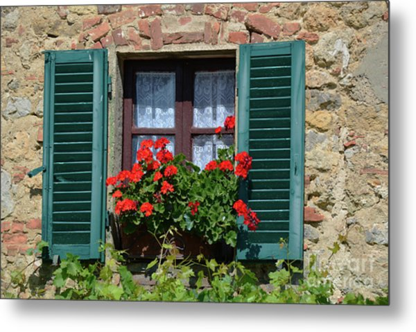 Bella Italian Window  Metal Print