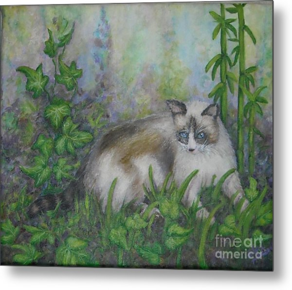 Bella With Ivy And Bamboo Metal Print by Sheri Hubbard