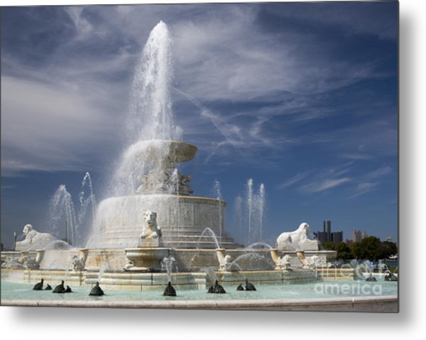 Belle Isle Scott Fountain Metal Print