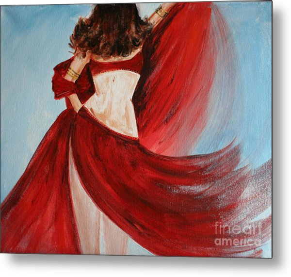 Belly Dancer Metal Print by Julie Lueders