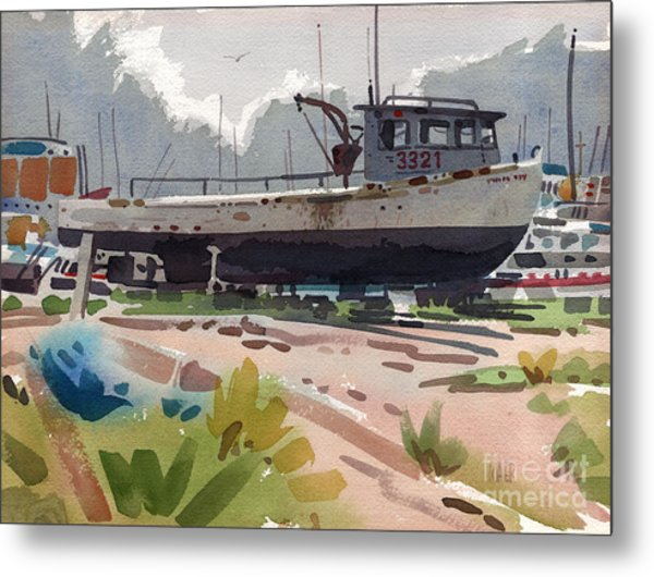 Belmar Boatyard Metal Print by Donald Maier