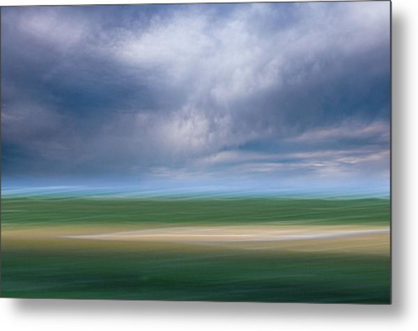 Below The Clouds Metal Print
