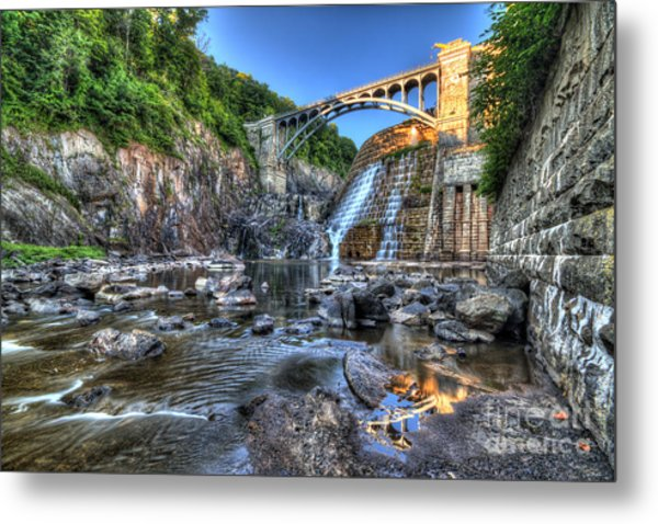 Below The Dam Metal Print