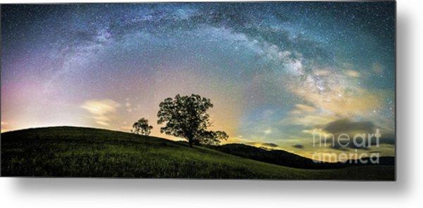 Below The Milky Way At The Blue Ridge Mountains Metal Print