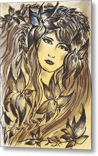 Beltane Goddess Metal Print by Pia Tohveri