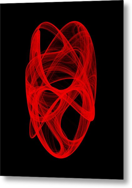 Bends Unraveling Iv Metal Print