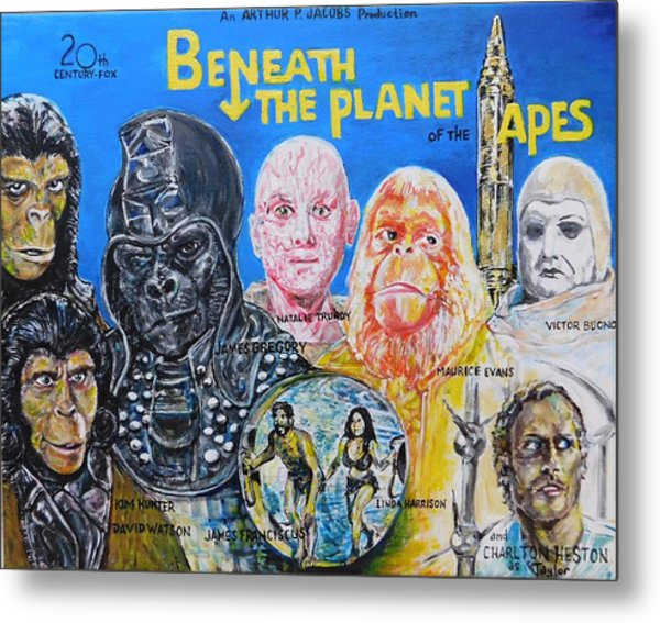 Beneath The Planet Of The Apes - 1970 Lobby Card That Never Was Metal Print