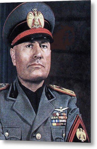 Benito Mussolini Color Portrait Circa 1935 Metal Print