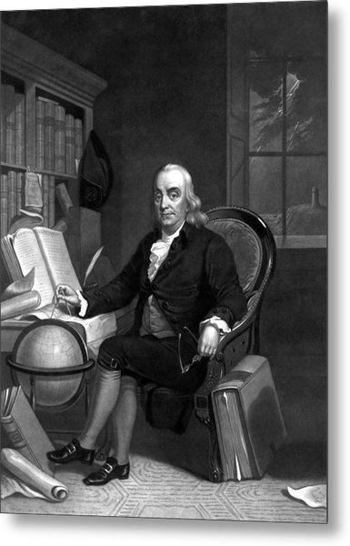 Benjamin Franklin -- The Scientist Metal Print