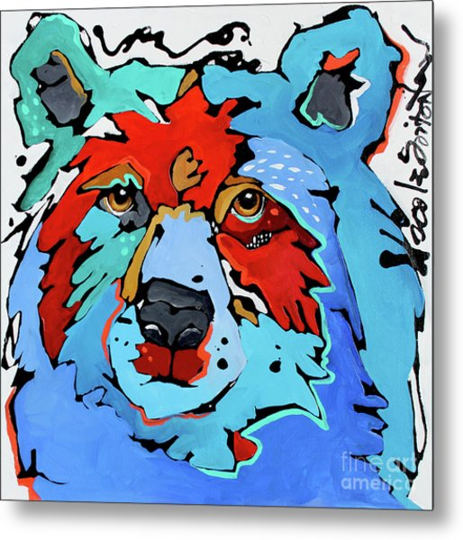 Benjamin The Bear Metal Print