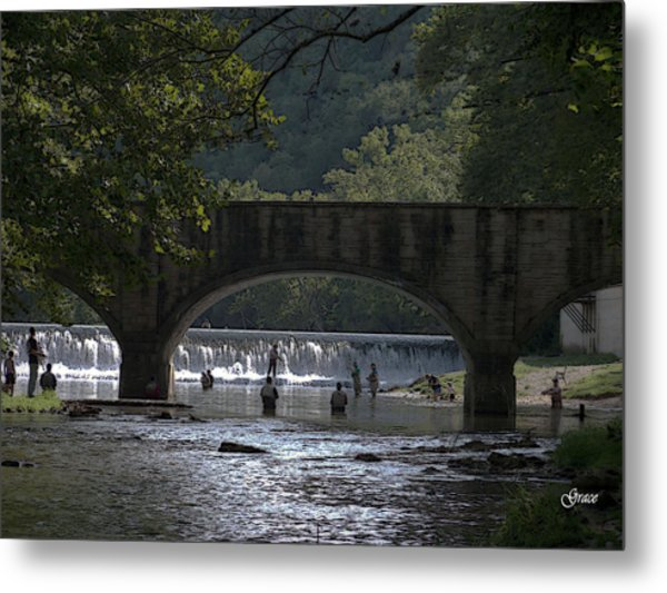 Bennett Springs Bridge Metal Print