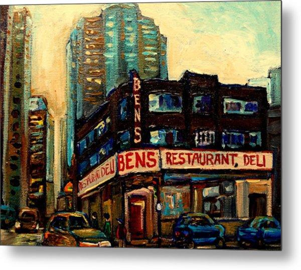 Bens Restaurant Deli Metal Print