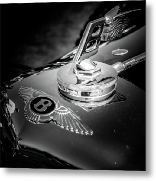 Bentley Hood Ornament Metal Print