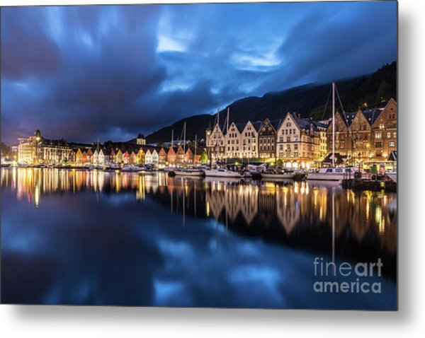 Bergen Harbor Metal Print