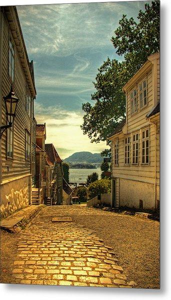 Bergen Village Metal Print
