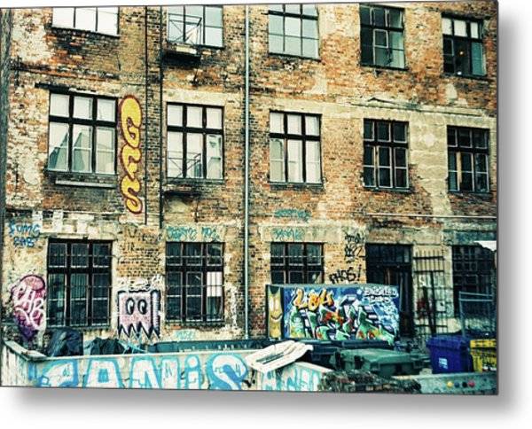 Berlin House Wall With Graffiti  Metal Print