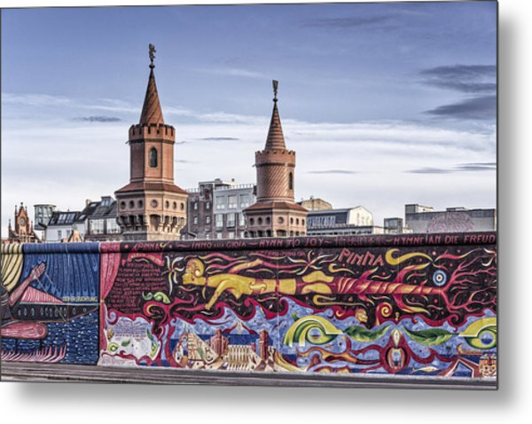 Metal Print featuring the photograph Berlin Wall by Juergen Held