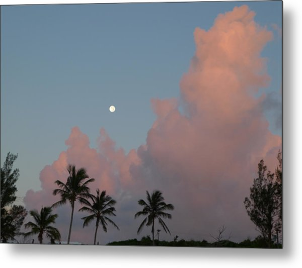 Bermuda Morning Moon Metal Print