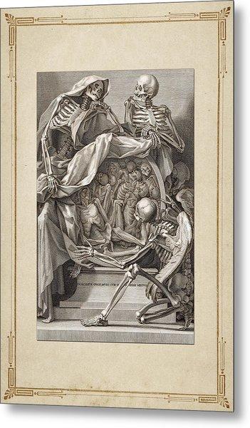 Bernardino Genga - Allegorical Emblems Of Death Metal Print