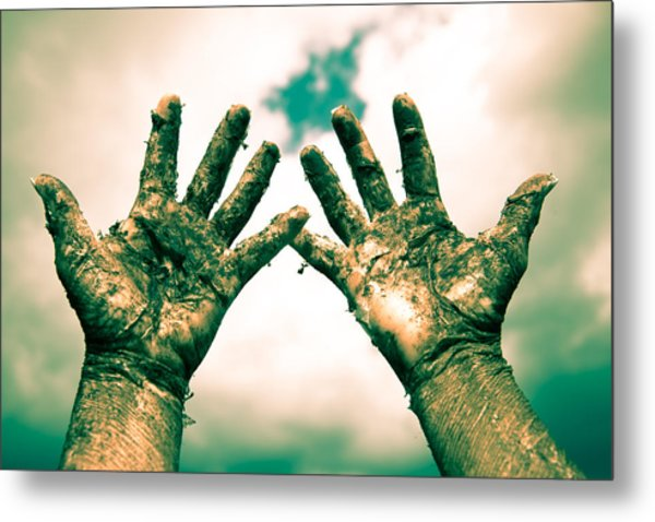 Beseeching Hands Metal Print