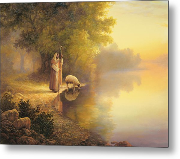 Metal Print featuring the painting Beside Still Waters by Greg Olsen