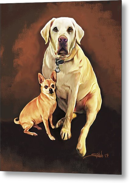 Best Friends By Spano Metal Print