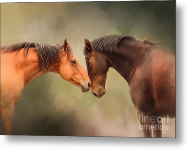 Best Friends - Two Horses Metal Print