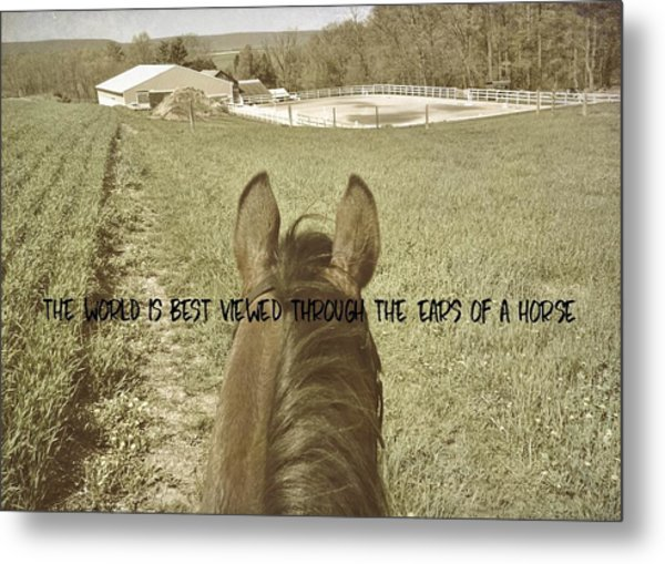 Best View Quote Metal Print