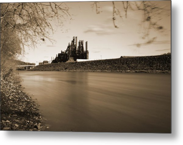 Bethlehem Steel Along The Lehigh Metal Print