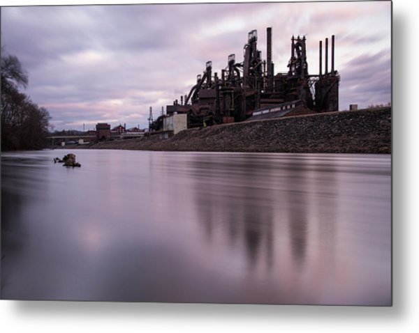 Bethlehem Steel Sunset Metal Print