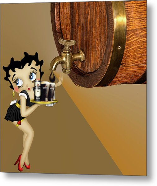 Betty Boop Serving Murphys Metal Print