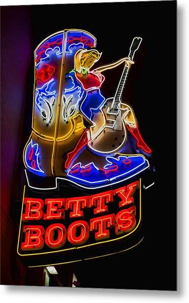 Betty Boots Metal Print