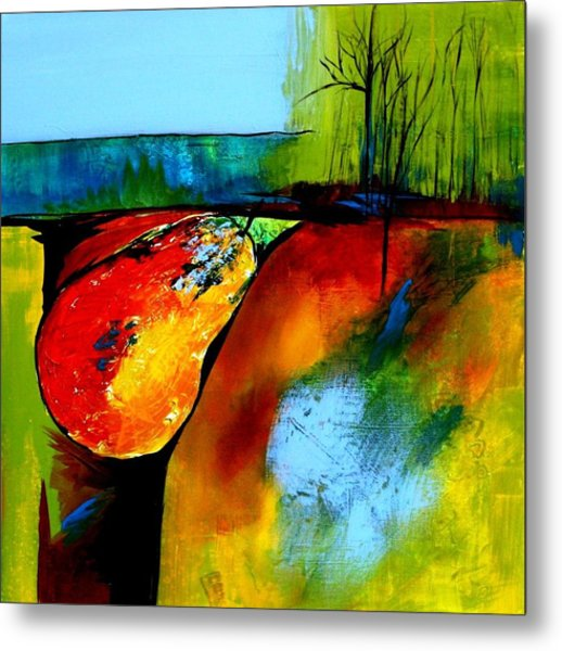 Between A Pear And A Rock Metal Print by Jane Robinson