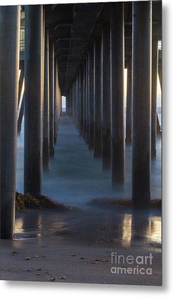 Between The Pillars  Metal Print