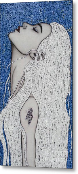 Metal Print featuring the mixed media Between The Sea And Sky by Natalie Briney
