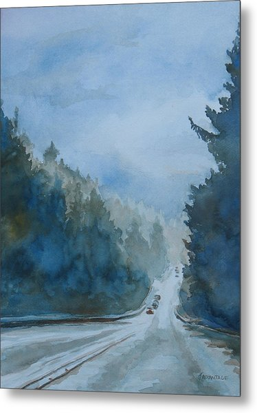 Between The Showers On Hwy 101 Metal Print